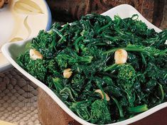 Sauteed Broccoli Rabe with oil and garlic...this is a staple in my life. So easy to make and SO delicious, especially if you grew up with an Italian grandmother!