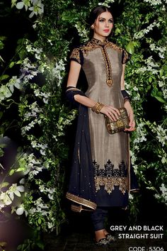 Best Seller In Churidar Suit, Salwar Kameez Pettern Design, Anarkali Embroidery Work Suit, Zari Work And Patch border Work Salwar Suit Latest Salwar Suits, Latest Salwar Kameez, Churidar Suits, Indian Salwar Kameez, Salwar Kameez Online, Salwar Kurta, Salwar Dress, Anarkali Suits, Grey And Navy Blue Suit