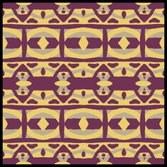 """Samantha"" - Pals Paper Arts Colour Challenge PPA 218 - Moroccan Style Abstract Digital Art in Purple, Yellow and Grey by Renee Dillon"