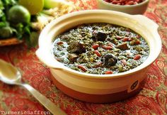 Ghormeh Sabzi - my favorite! (Persian veggie stew with meat and beans)