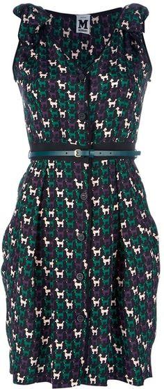 Poodle Print Dress