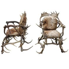 19th Century Antler Chairs