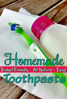 Tired of buying tube after tube of toothpaste? Make your own! This homemade toothpaste is an all natural toothpaste and can be flavored any way you want!