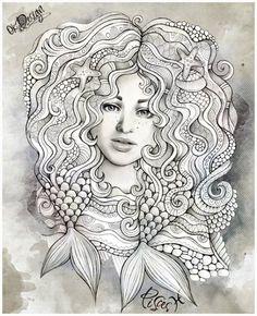 Zodiac Illustration PISCES By Balabolka