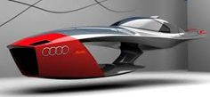 Audi Calamaro Nuclear Powered Flying Concept Car Takes Future Design Competitions To A Different Level. This futuristic take on a flying car was designed by Hungarian design student Tibor Future Flying Cars, Future Car, Design Transport, Design Autos, Design Cars, Boat Design, Cars Vintage, Future Transportation, Transportation Technology