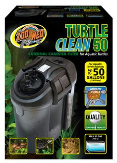 Check out Zoo Med's NEW Turtle Clean™ 50 Canister #Filter. Perfect for 50 gallon #aquatic tanks, tubs, and pools.