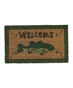 Look at this 'Welcome' Fish Doormat on #zulily today!
