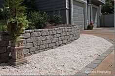 How to DIY a retaining wall.