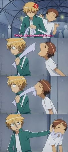 ahahaha, I love his face in that last pic xD kaichou wa maid sama