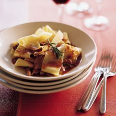 Pappardelle with Tangy Veal Ragù Recipe - Barbara Lynch   Food & Wine