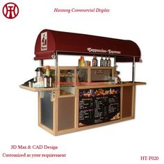 China stainless steel mobile food cart/frozen yogurt cart tricycle/china mobile fast food cart