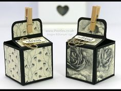Timeless Elegance DSP, Six Sided Sampler (sentiment), Clothespins, Corner Rounder punch - 2 inch 5cm Cube Box Tutorial