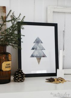 Download and print this Scandinavian style Christmas poster for a white Christmas feeling (in Norwegian and English)