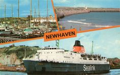 Senlac and Harbour views - Newhaven, Merchant Navy, British Rail, Beautiful Places, Channel, Fair Grounds, Ships, France, Memories