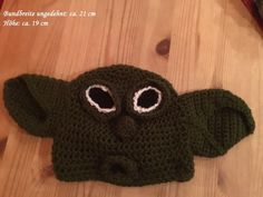 Mütze/Beanie - Yoda -  gehäkelt