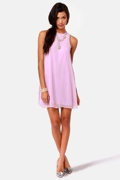 Chiff-On the Run Lavender Dress