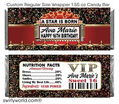 40th Birthday Invitations, Birthday Favors, Birthday Cakes, Candy Bar Party, Candy Bar Labels, Hollywood Red Carpet, Hollywood Theme, Happy 21st Birthday, 21 Birthday