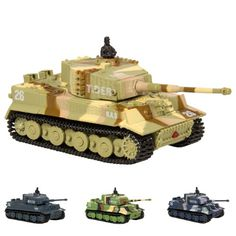 Best Choice Products 1:72 Mini Remote Control Battle Tank RC Car Kid Toys In Assorted Colors, Multi