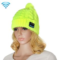 [$10.56] My-Call Bluetooth Headset Beanie Knitted Warm Winter Hat for iPhone 6 & 6s / iPhone 5 & 5S / iPhone 4 & 4S and Other Bluetooth Devices(Green)