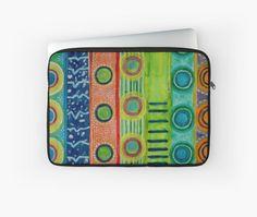Seasonal Stripes by Heidi Capitaine #Laptop Sleeves