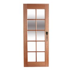 Hume 2040 x 820 x 40mm Clear 10 Lite Entrance Door  Bunnings $157 for study door - paint on to Green? Or black...