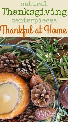 Create a beautiful Thanksgiving tablescape with these natural centerpiece ideas. With various materials from nature it's an easy, low cost way to decorate your table. Click for Natural Thanksgiving Centerpieces ideas - The Boondocks Blog First Thanksgiving, Thanksgiving Side Dishes, Thanksgiving Recipes, Fall Recipes, Vegetarian Thanksgiving, Thanksgiving Appetizers, Holiday Recipes, Holiday Ideas, Wood Centerpieces