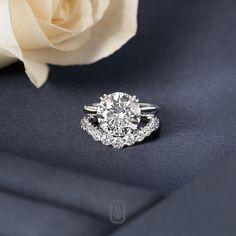 """#HarryWinston unveils """"something new"""" – a breathtaking V-Shape #Diamond #Wedding…"""