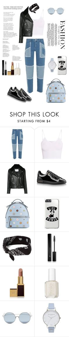 """""""Untitled #87"""" by reem-sha223 ❤ liked on Polyvore featuring House of Holland, BasicGrey, Nobody Denim, Fendi, Forever 21, Tom Ford, Essie, For Art's Sake and Olivia Burton"""