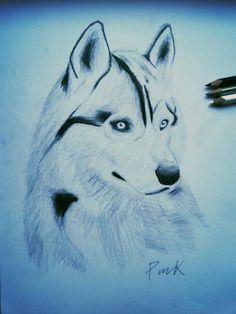 I love husky ✏#husky #malamut #dog #i #love #wolves #nature #naturelovers #animal #wild #wildlife #cute #draw #drawing #art #paper #painting #blackandwhite