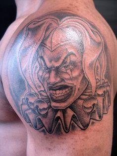 gangster tattoo galleries   gangsta clown - Nelson Daboud Tattoos