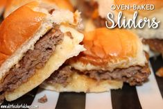 These Oven Baked Sliders are SO easy to make & perfect for game day!