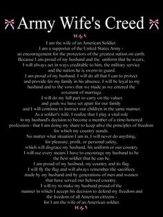 Army Wife's Creed