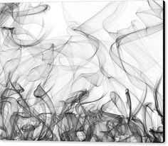 Mariia Kalinichenko Canvas Print featuring the digital art Grey Snood On White by Mariia Kalinichenko. Abstract #MariiaKalinichenko
