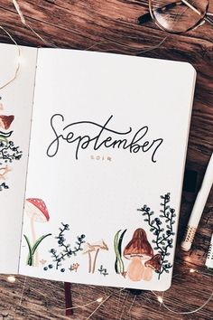 Fall is a great time to switch up your bullet journal theme! Check out the best September monthly cover ideas and examples for inspiration to get started! Bullet Journal Journaling, Bullet Journal Month, Bullet Journal Cover Ideas, Bullet Journal Lettering Ideas, Bullet Journal Notebook, Bullet Journal School, Bullet Journal Inspo, Bullet Journal Spread, Bullet Journal Layout