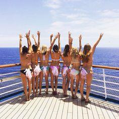Bachelorette cruise in bikini tutus