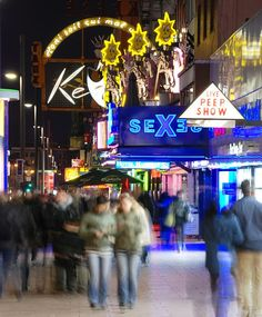 The Reeperbahn is a street in Hamburg's St. Pauli district, one of the two centres of Hamburg's nightlife and also the city's red-light district