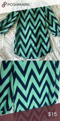 Chevron print dress Excellent condition. Long sleeves, mini dress Love Culture Dresses