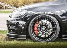 Side view of Josh's new Revosport splitter.oh and that wheel set up! Volkswagen Golf, Vw Golf R Mk7, Golf 7 Gti, Oz Ultraleggera, Purge, Gti Mk7, Audi, Because Race Car, Car Mods