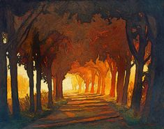 Sunset Avenue Giclee Fine Art PRINT of Original by gallery28