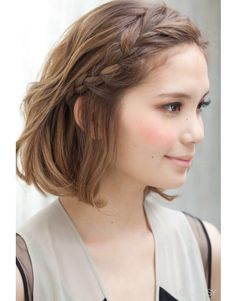 Coiffure : 10 Braided Hairstyles for Short Hair – PoPular Haircuts Cool Hairstyles For Girls, Pretty Hairstyles, Girl Hairstyles, Hairstyle Ideas, Wedding Hairstyles, French Hairstyles, Hairstyles Haircuts, Curly Haircuts, Quick Hairstyles