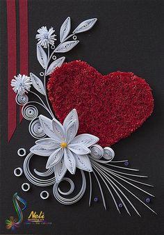 Neli Quilling Art: Cards with boxes - cm / cm Paper Quilling Cards, Arte Quilling, Paper Quilling Tutorial, Paper Quilling Flowers, Paper Quilling Patterns, Quilled Paper Art, Quilling Craft, Quilling Letters, Paper Quilt