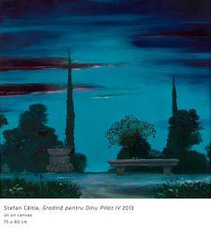 Stefan Caltia Rene Magritte, Night Light, Modern Art, Aquarium, World, Garden, Painting, Magic, Contemporary Abstract Art