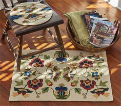 Traditional Vine & Blossom Hooked Rug 24 x 36 from Park Designs is designed for indoor/outdoor use. New England Homes, Rug Hooking, Rugs, Park Designs, Cottage Decor, Country Cottage Decor, Bed Rug, Chair Pads, Decor Styles
