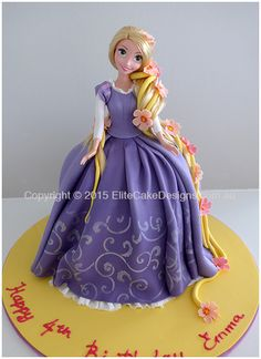 Repunzel from Tangled Girls Birthday Cake