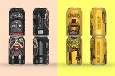 diseño en latas de cerveza