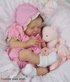 Forever Wee Ones~ Beautiful Christmas Reborn baby~ mottled complexion~fake baby~