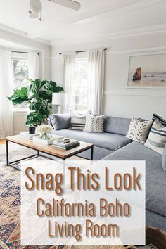 Modern Bohemian Decor – Boho Decor – Snag this Look California Boho Decor – Bohemian Decor to make your living room seem larger boho Living Room decor living room bohemia Boho Decor Diy, Modern Bohemian Decor, Modern Decor, Bohemian Furniture, Eclectic Decor, Eclectic Bedrooms, Eclectic Modern, Bohemian Interior, Rustic Decor