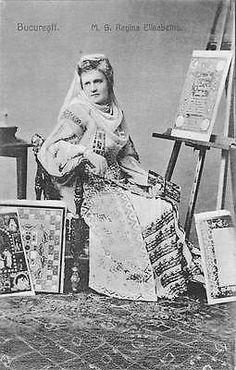 Royalty-Bucuresti-M-S-Regina-Elisabetha-Romania-Bucharest-Queen-Folk-Costume