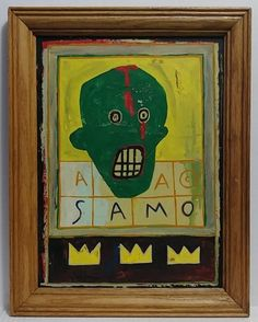 Jean-Michel Basquiat Signed and Framed Painting: Untitled. Basquiat was on the forefront of the Neo-Expre. Jean Michel Basquiat, Japanese Prints, Painting Frames, Online Art, Pop Art, Contemporary Art, Auction, Abstract, Summary