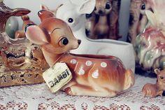 cute bambi vintage planters